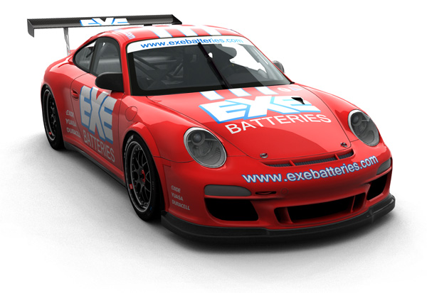 Exe Batteries Plymouth Porsche Race Car